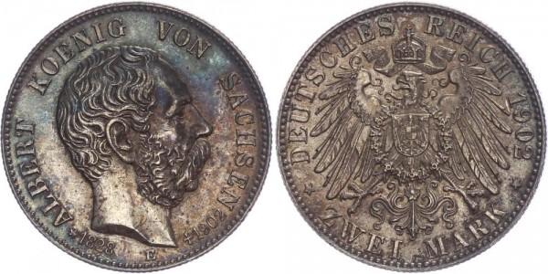Sachsen 2 Mark 1902 - Albert, Auf den Tod