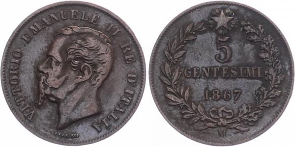 Italien 5 centesimi 1867 - Kursmünze