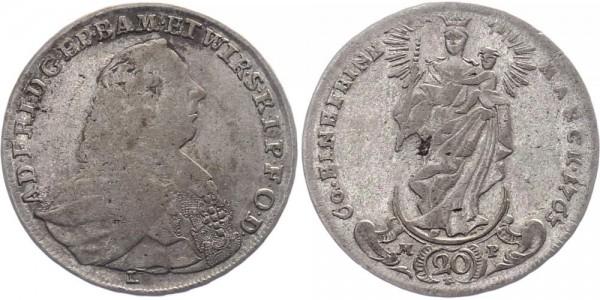 Würzburg 20 Kreuzer 1763 - Adam Friedrich von Seinsheim