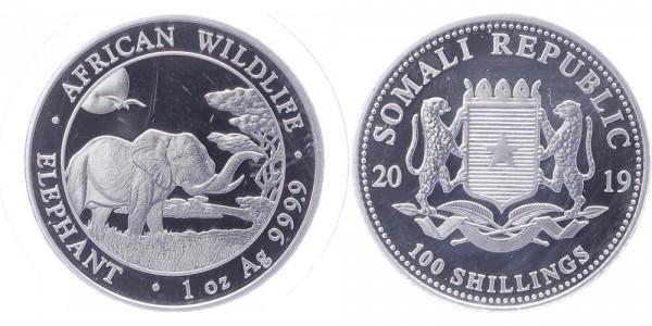 Somalia 100 Shillings 2019 - Elefant