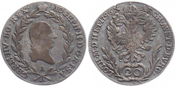 Österreich 20 Kreuzer 1786 A Kursmünze