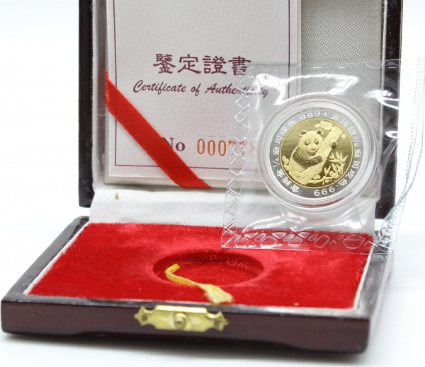 China 1996 Munich International Coin Show, Bimetall