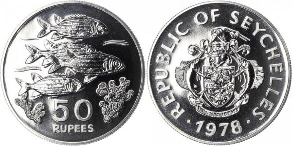 Seychellen 50 Rupien 1978 - Fische